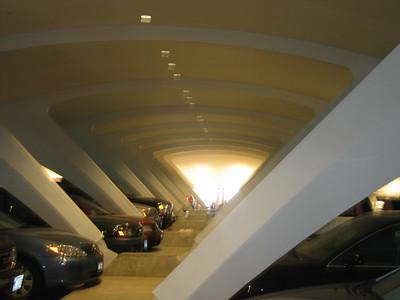 Parking garage of Milwaukee Art Museum