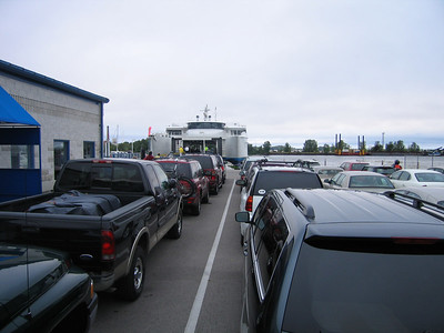 Getting on the Lake Express Ferry for the trip from Muskegon (MI) to Milwaukee (WI)
