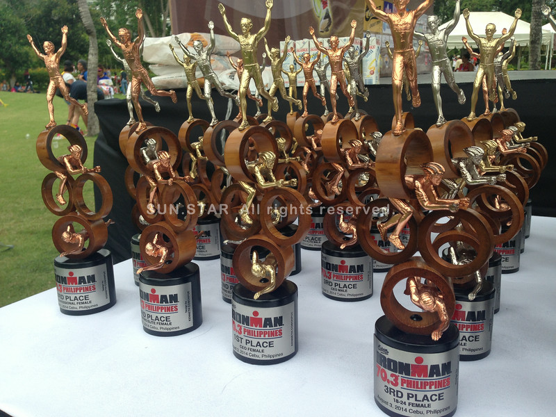 Ironman 70.3 Philippines 2014 trophies