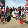 Triathletes finish the bike leg of Ironman 70.3 Philippines