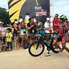 Filipino elite John Philip Duenas finishes the 90K bike