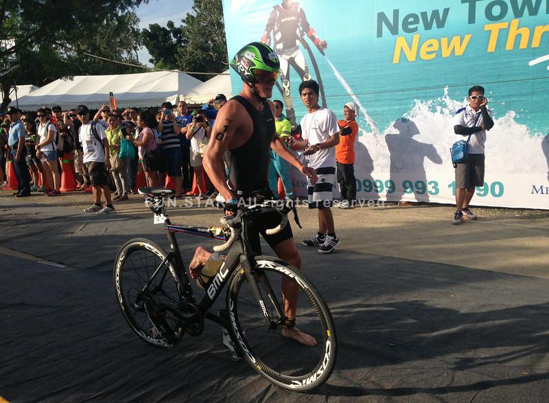 Eric Watson starts the bike race