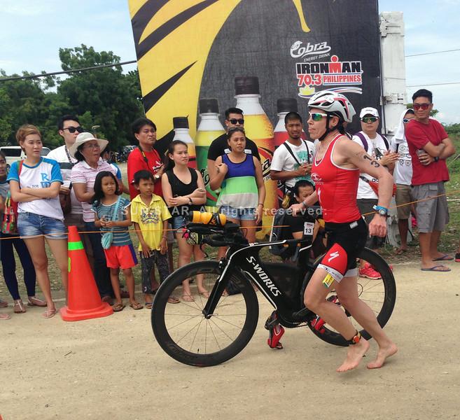 Rebecca Hoschke finishes the Ironman 70.3 Philippines bike leg