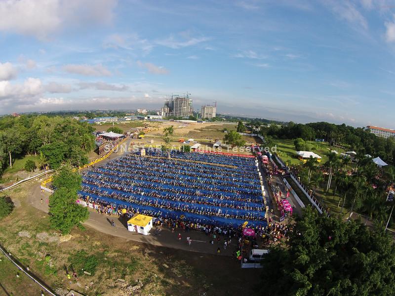 Aerial shot of Cobra Energy Drink Ironman 70.3 Philippines 2015