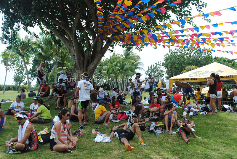 CEBU. Finishers of the Ironman 70.3 Philippines with their families.