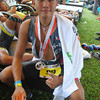 CEBU. Cebuano triathlete Ralph Sios-e poses after finishing the race in 4:59:22.
