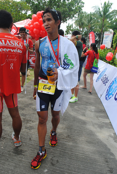 CEBU. Benjamin Patrick Ramirez arrives at the finish line.