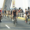 Cobra Energy Drink Ironman 70.3 Philippines participants on their bikes. Photo taken at the Marcelo Fernan Bridge. (Sun.Star Photo/Arni Aclao)