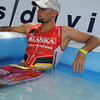 CEBU. Mathieu O' Halloran takes his cold bath after racing.