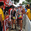 CEBU. Pete Jacobs assists his wife Jamielle Jacobs as she arrives at the finish line at 5:21:31.