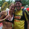 CEBU. Amanda Stevens-Sadler with husband Randy Sadler at the finish line.