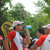 CEBU. Actor Piolo Pascual, who did the bike in a relay, refreshes.