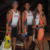CEBU. Members of Team Norman from Manila, who are joining the Ironman 70.3 Philippines relay, pose after the body marking on Sunday, hours before the race.