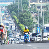 NUMBER ONE. Australia's Pete Jacobs ascends the Marcelo Fernan Bridge, en route to a third straight year as champion of the Cobra Energy Drink Ironman 70.3 Philippines. It took him only 4 hours, 7 minutes and 38 seconds to complete the 2-kilometer swim, 90-kilometer bike and 21-kilometer legs. (Sun.Star Photo/Alex Badayos)