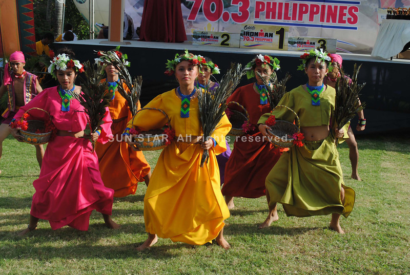 CEBU. Young female performers during the awarding ceremony of the Ironman 70.3 Philippines.