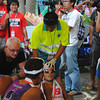 CEBU. Erwan Heussaff at the finish line.