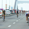 BALANCING ACT. While Cobra Energy Drink Ironman 70.3 Philippines athletes reach the race's cycling stage on one lane of the Marcelo Fernand Bridge, motorists find themselves stuck in traffic on the other lane. (Sun.Star photo/Arni Aclao)