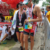 CEBU. Pete Jacobs and Jamielle Jacobs at the finish line.
