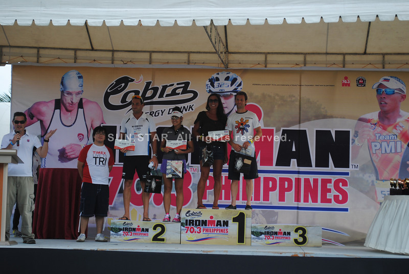 CEBU. Christina Jackson and Alessandra Araulo-Gonzalez were among those who received the Timex Bike Bunos, a special award.