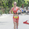 Triathlete from Switzerland Caroline Steffen on the last leg of the Ironman 70.3 Philippines. (Sun.Star Photo/Allan Cuizon)