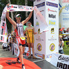 Pete Jacobs of Australia, one of the professional athletes who joined the Ironman 70.3 Philippines in Cebu, crossed the finish line first. (Sun.Star Photo)