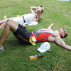 CEBU. Triathletes resting after a tough race.