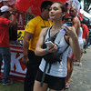 CEBU. Actress Iya Villana at the finish line supporting for her boyfriend Drew Arellano who joined the race.