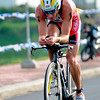 Pete Jacobs leads in the bike race during the Ironman 70.3 Philippines in Cebu. (Sun.Star Photo/Allan Defensor)