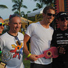 CEBU. Jenson Button poses with other triathletes after the awarding ceremony.