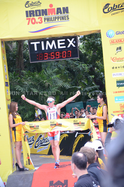 Australia's Pete Jacobs finished second at 03:59:09. (Iste Sesante-Leopoldo/Sun.Star Cebu)