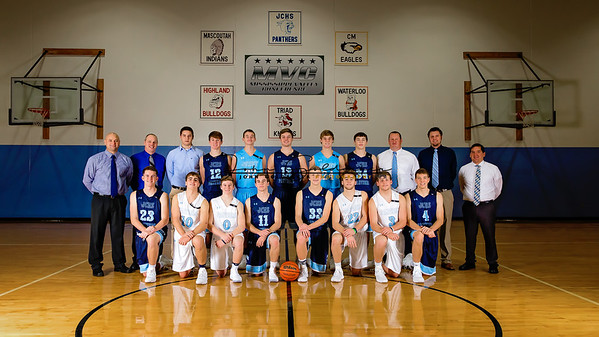 JCHS Basketball Varsity Team 2018