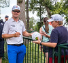 Zach Johnson with his fans.