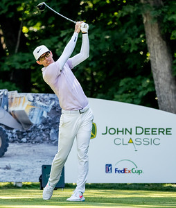 Dylan Frittelli tees off #16 en route to his first PGA Tour vistory at the John Deere Classic.