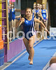 Clayton High's Kaitlyn Cron makes her run on the vault. Johnston County prep gymnasts competed in an area meet in Smithfield, N.C. on Friday, December 5, 2014.