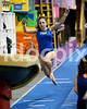 Princeton High's Cierra Davis  makes her run on the vault. Johnston County prep gymnasts competed in an area meet in Smithfield, N.C. on Friday, December 5, 2014.
