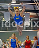 Princeton High's Cierra Davis competes on the uneven parallel bars. Johnston County prep gymnasts competed in an area meet in Smithfield, N.C. on Friday, December 5, 2014.