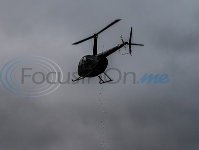 More than 600 golf balls dropped from a helicopter on Friday during the Jacksonville Chamber Golf Tournament and Golf Ball Drop at Cherokee Ranch Golf Club. Golf balls were numbered and available for purchase for $10 each; the ball closest to the hole after being dropped won $1000.