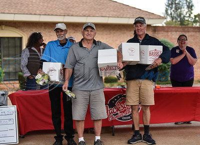 Members of Team Force Hydraulics take home second place at the Jacksonville Chamber Golf Tournament and Golf Ball Drop at Cherokee Ranch Golf Club on Friday.