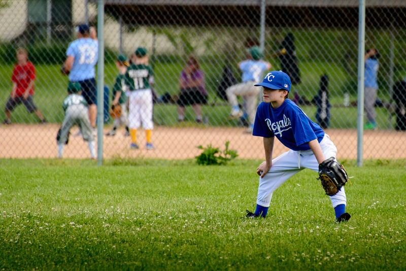 Jake in the outfield.