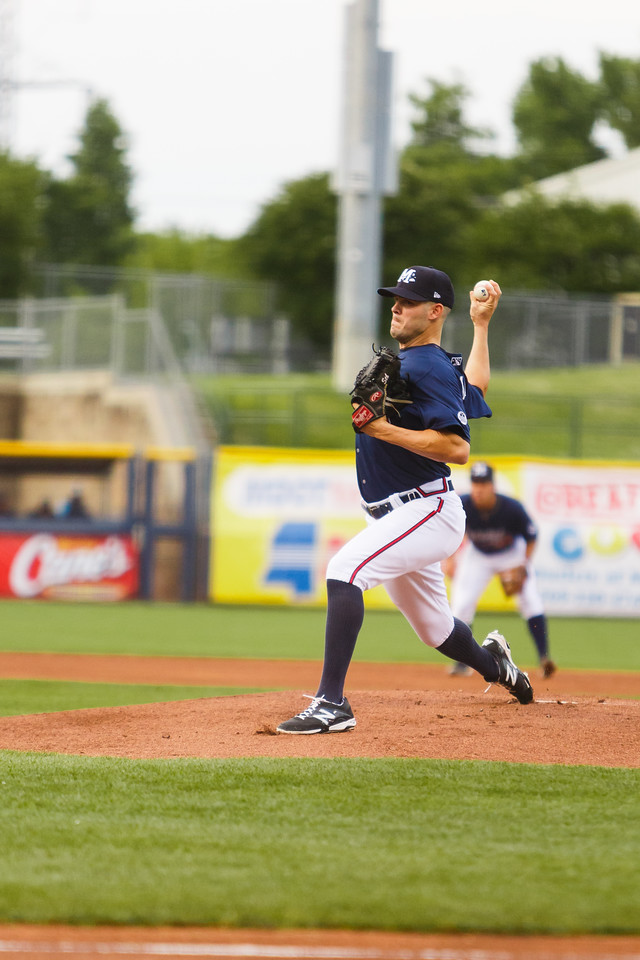 Mississippi Braves pitcher Jake Brigham