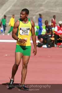 Yohan Blake - St. Jago High School (my old high school) @ 2008 Boys Championship in Kingston Jamaica. 2011 World Champion 100 Meters in a time of 9.92s. Now on September 16, 2011 and he ran the second fastest 200M in history at 19.26s. Unbelievable that I was watching and photographing him just two years ago in high school.
