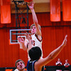 Altamont's Garrett Ziegler puts up a runner in the lane in the Indians' win against South Central at the NTC tournament.