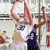 1-17-14<br /> Boys County Tourney Western vs. Northwestern<br /> Western's Zach Shahan shoots.<br /> KT photo | Kelly Lafferty
