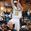 1-14-14<br /> Tri Central vs. Sheridan basketball<br /> Tri Central's Garrett Dick puts up a shot.<br /> KT photo | Kelly Lafferty
