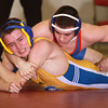 1-15-14<br /> Kokomo vs. Tri Central wrestling<br /> Kokomo's Wyatt Lowe (top) and Tri Central's Jordan Thurston<br /> KT photo | Kelly Lafferty