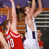 1-3-14<br /> Northwestern boys basketball<br /> Logan Macaluso makes a shot.<br /> KT photo | Kelly Lafferty
