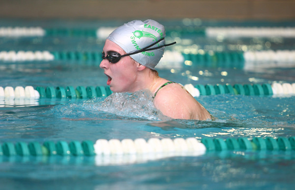 1-30-14<br /> Eastern swimming<br /> Hannah Perryman in the 200 Yard IM<br /> KT photo | Kelly Lafferty