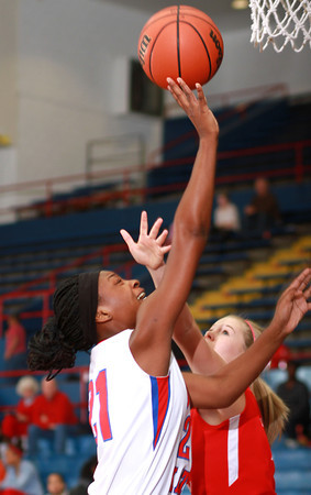 1-11-14<br /> Kokomo High School girls basketball<br /> Kokomo's Schnetavia Williams goes for the basket.<br /> KT photo | Kelly Lafferty