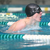 1-30-14<br /> Eastern swimming<br /> Zach Eckart in the 100 Yard IM<br /> KT photo | Kelly Lafferty