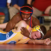 1-15-14<br /> Kokomo vs. Tri Central wrestling<br /> Kokomo's DaShaun Barbary and Tri Central's Kaleb Causey<br /> KT photo | Kelly Lafferty